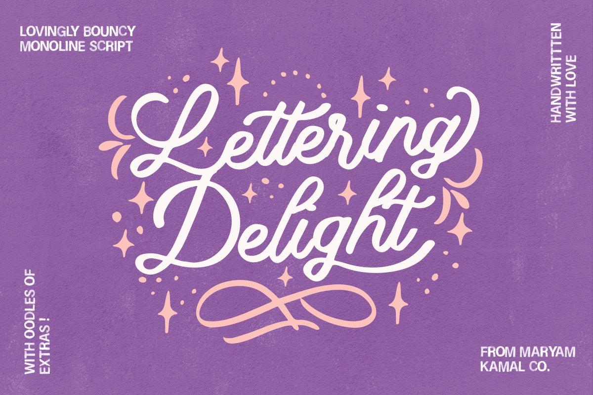 Lettering Delight Script Font example image 1