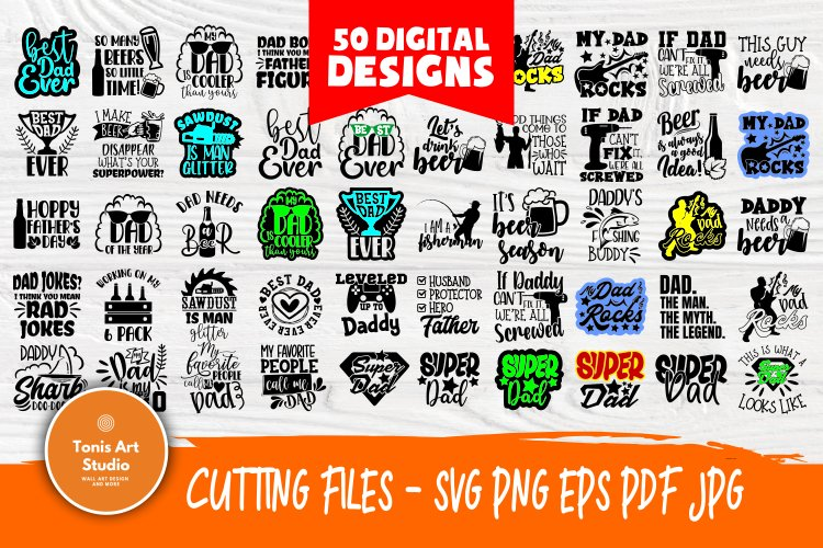 Free Super excited for father's day to roll around. Dad Quotes Svg Bundle Fathers Day Svg Funny Dad Shirt Svg 577149 Cut Files Design Bundles SVG, PNG, EPS, DXF File