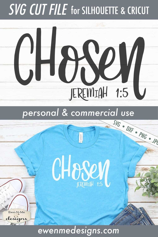 Chosen   Jeremiah 1-5   Faith Christian Bible Verse SVG example image 3