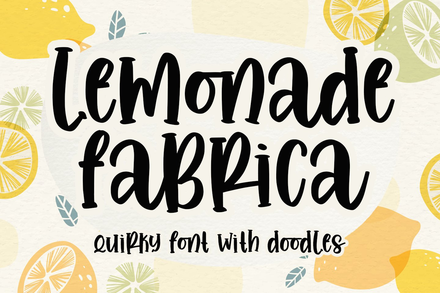 Lemonade fabrica -quirky with doodles- example image 1