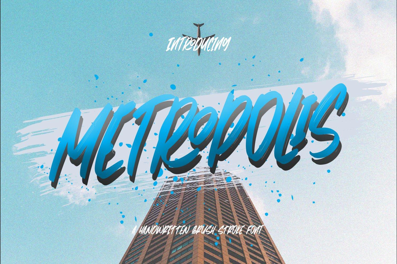 Metropolis - Handwritten Brush Font example image 1