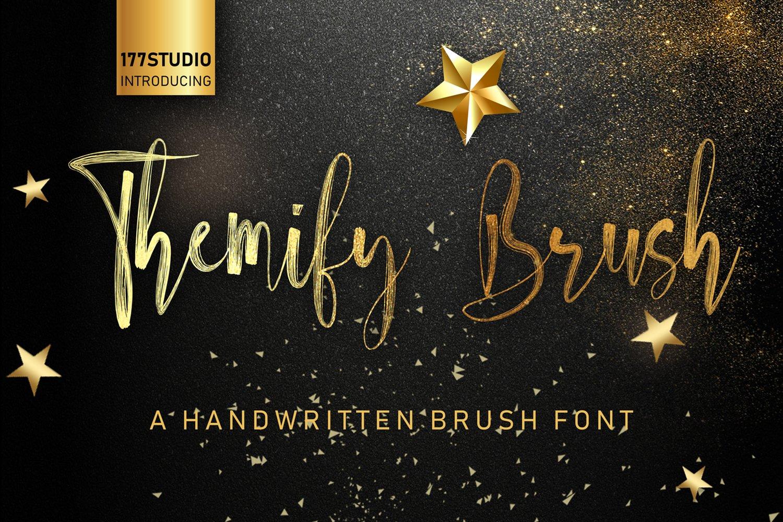 Themify Brush Font example image 1