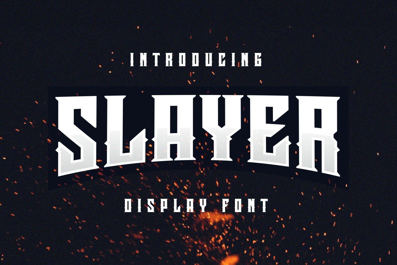 Slayer Font example image 1