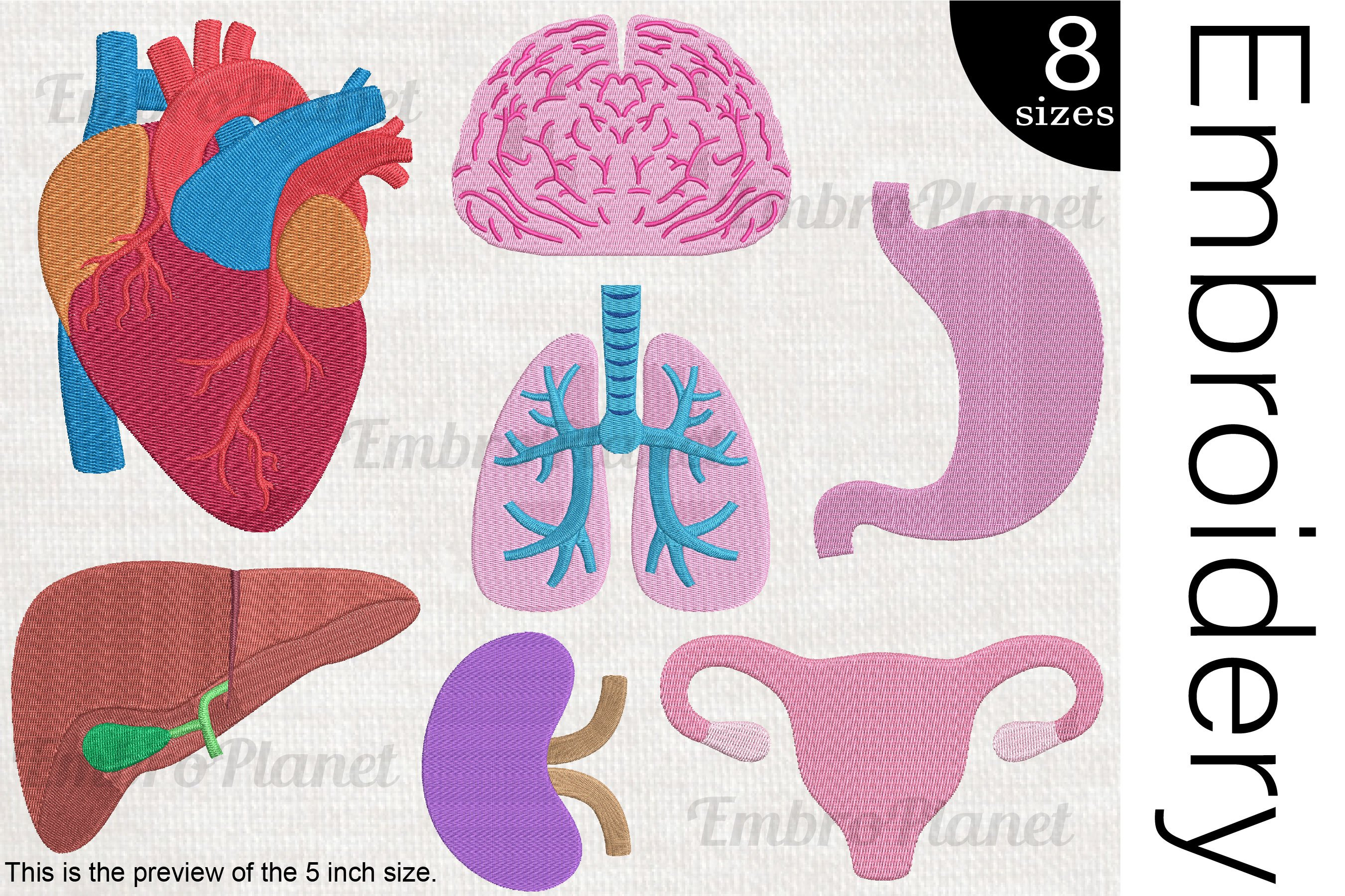 Organs - Embroidery files - 1506e example image 1