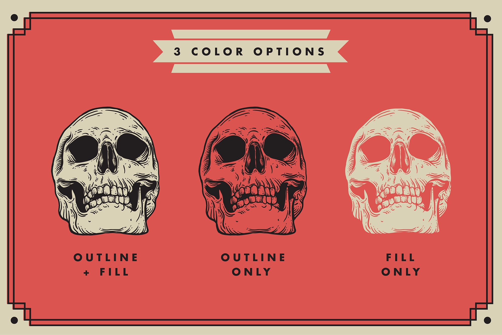 Vector Skulls | Illustration set example image 2