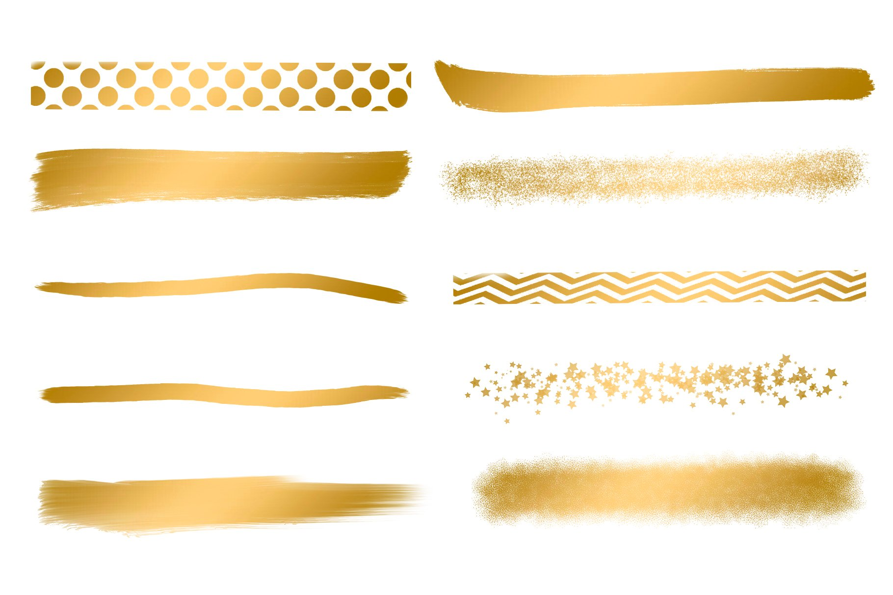Gold Brush Strokes, Brush Strokes example image 2