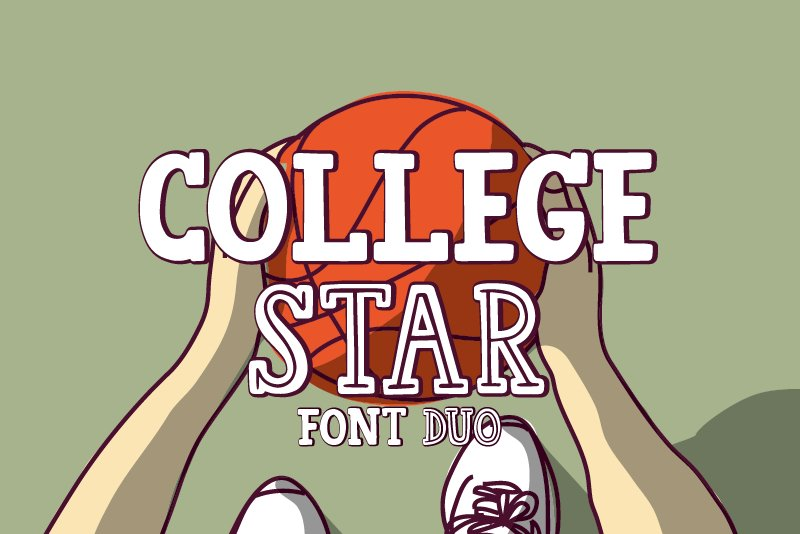 College Star Font Duo | LoveSVG example image 1