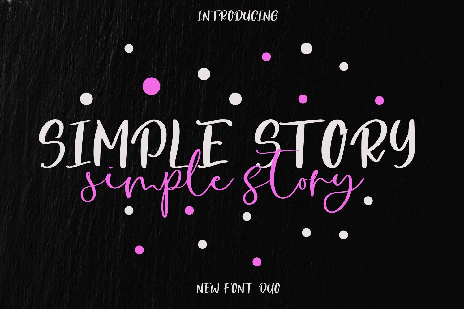 Simple Story Font Duo example image 1