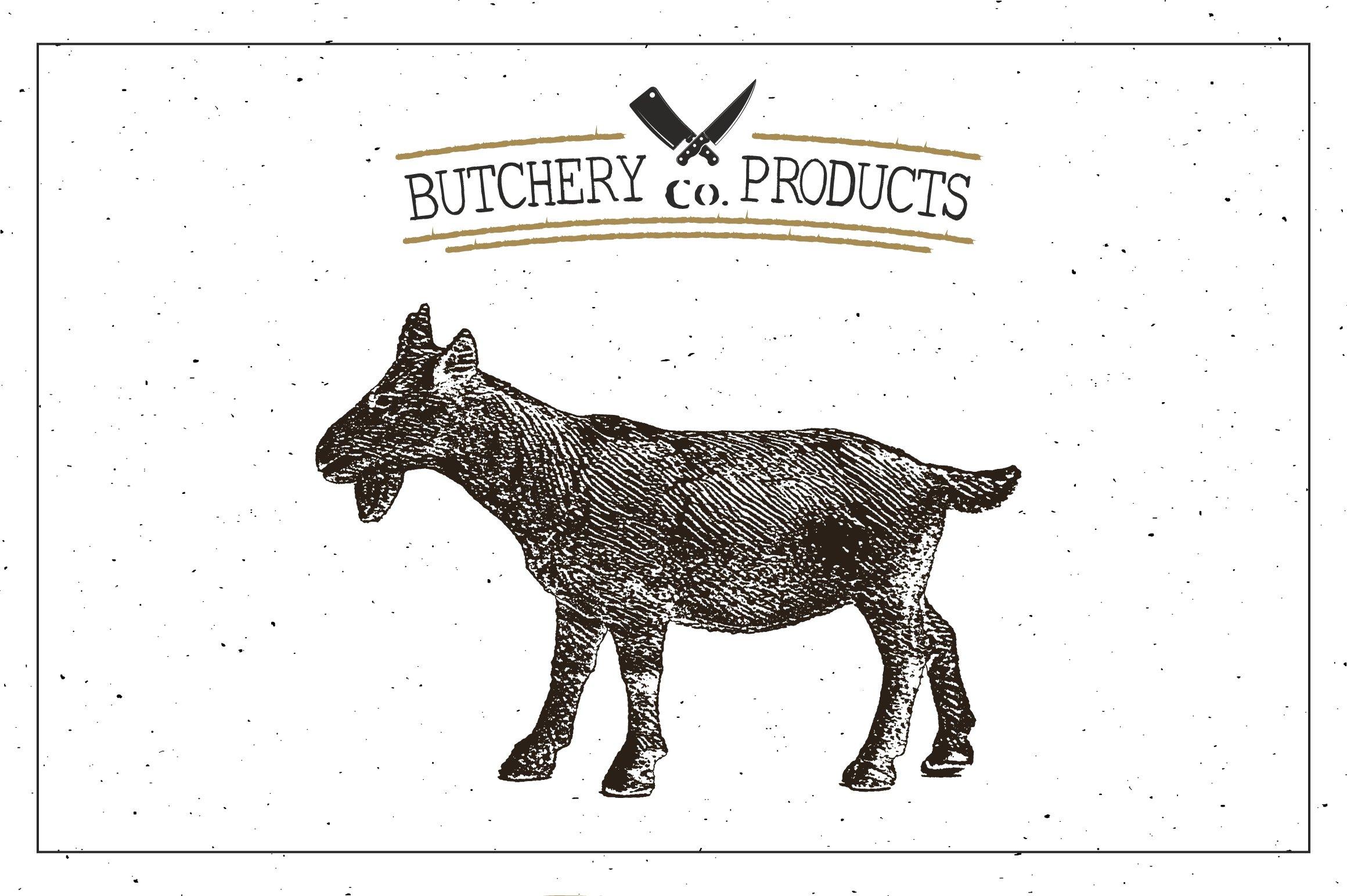 Download Butcher Shop Goat Logo Template 1105538 Logos Design Bundles