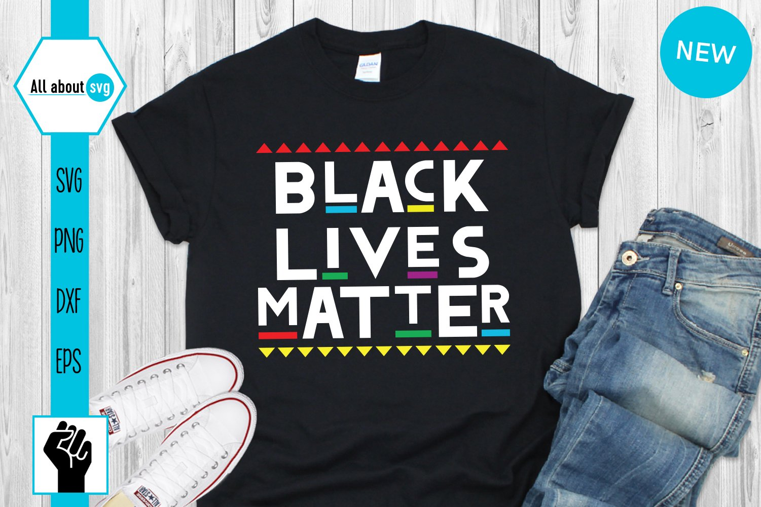 Black Lives Matter Svg, Black Lives Protest Svg example image 1