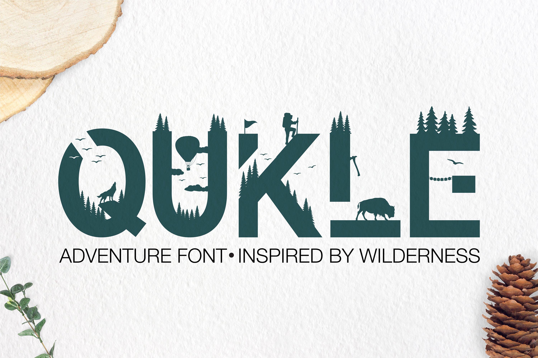Qukle - Adventure Font - Wilderness Typeface example image 1