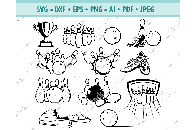 Bowling Svg Bowling Kegel Svg Bowling Ball Dxf Eps Png 520481 Svgs Design Bundles