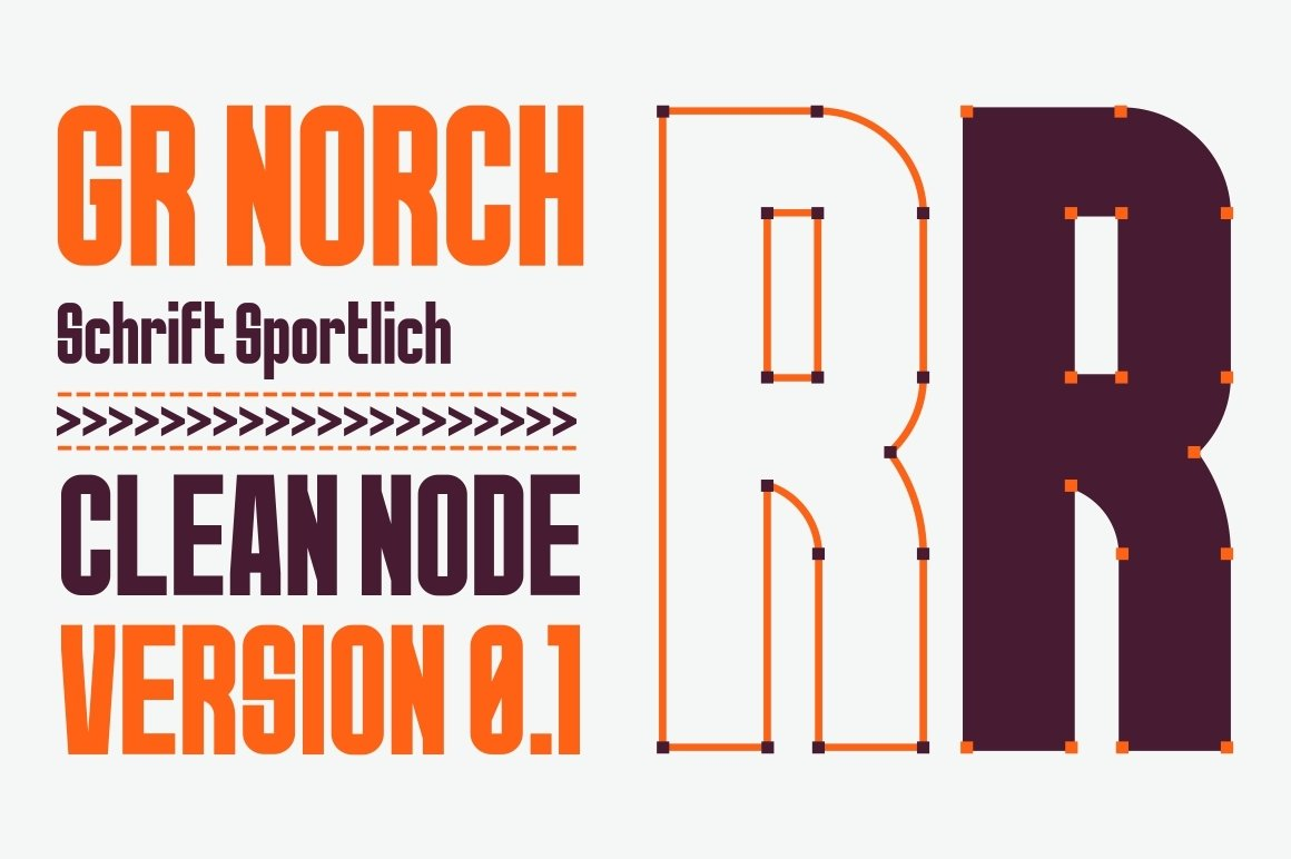 GR Norch - Sports Display Font example image 3