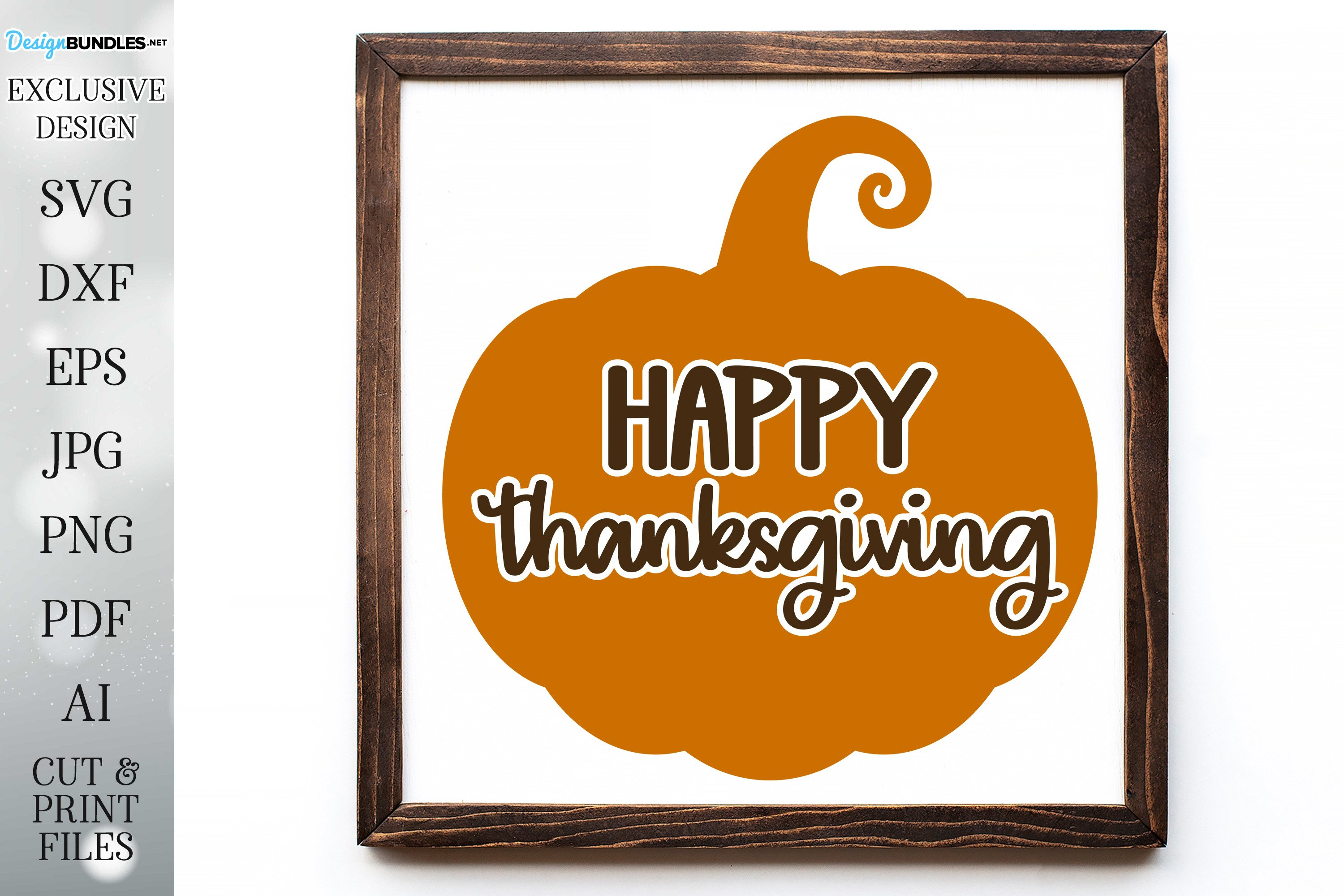 Happy Thanksgiving - Autumn / Fall Design example image 1