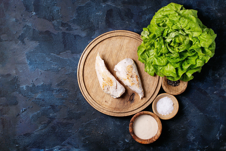 Ingredients for making caesar salad example image 1