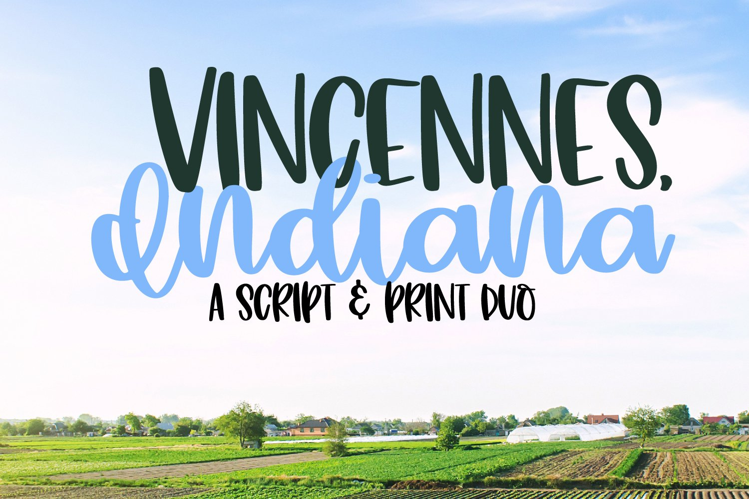Vincennes Indiana - A Script & Print Duo example image 1