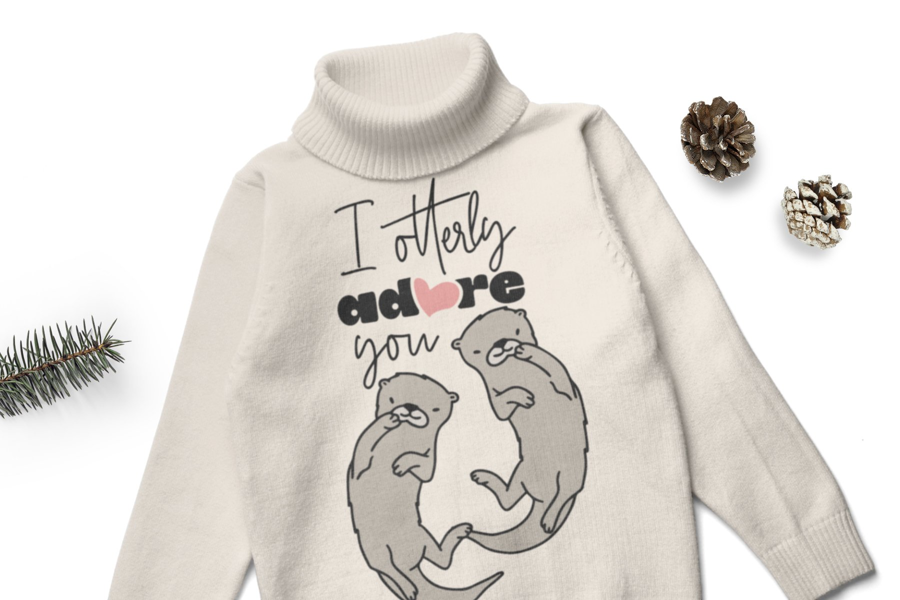 Otter SVG | I Adore You SVG example image 2