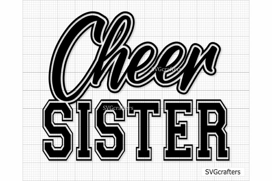 Awesome Cheer Sister Looks Like Cheer SVG DXF PNG
