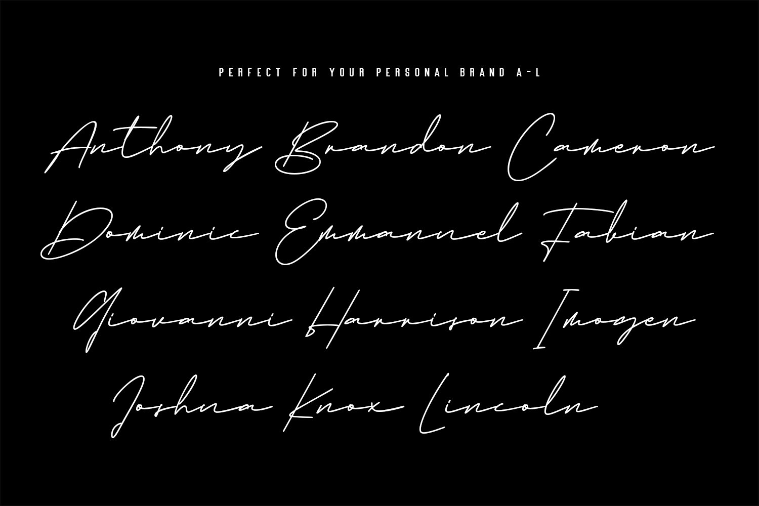 Emma Goulding Signature Collection Script Font example image 4