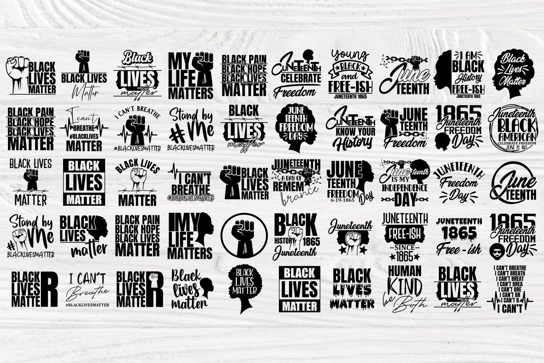 Black Lives Matter SVG Bundle, Juneteenth Svg, Black History example image 2