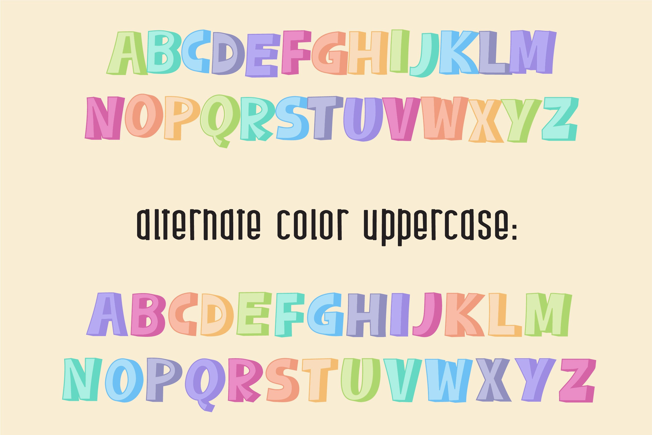 Sherbet Shadow SVG Font Duo example image 8