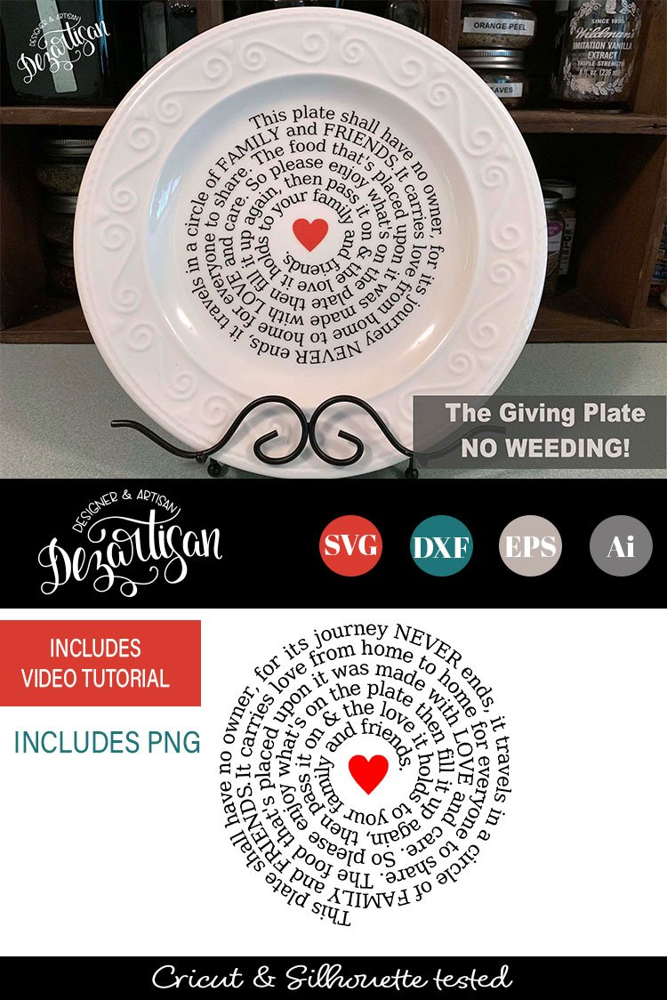 The Giving Plate Svg Dxf Cut Ready Files 121177 Cut Files Design Bundles
