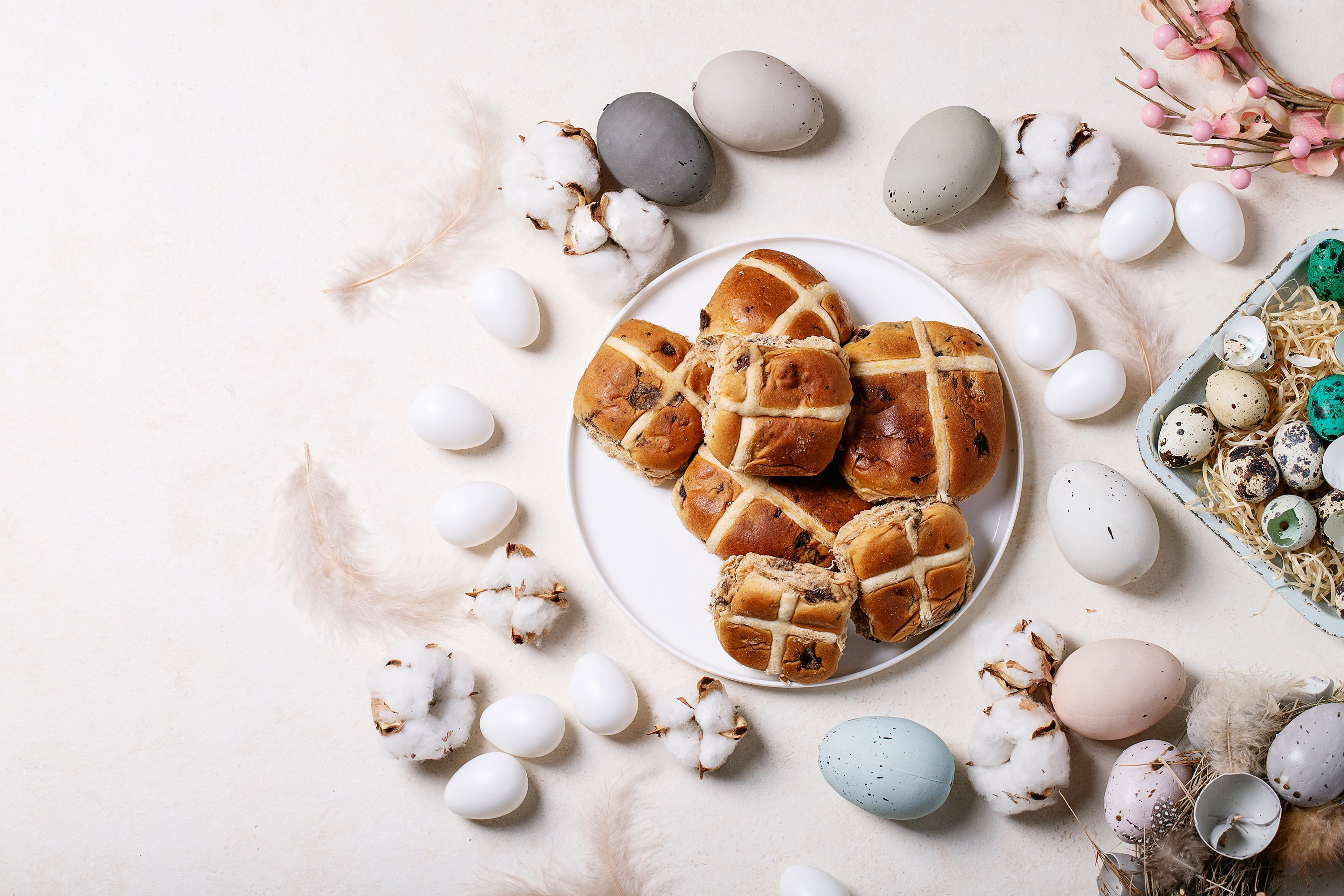Traditional Easter cross buns example image 1