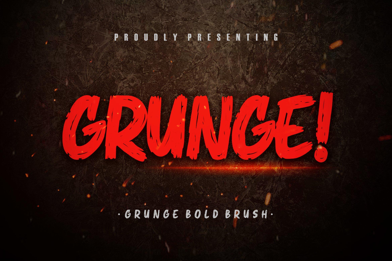 Grunge! Bold Brush Typeface example image 1