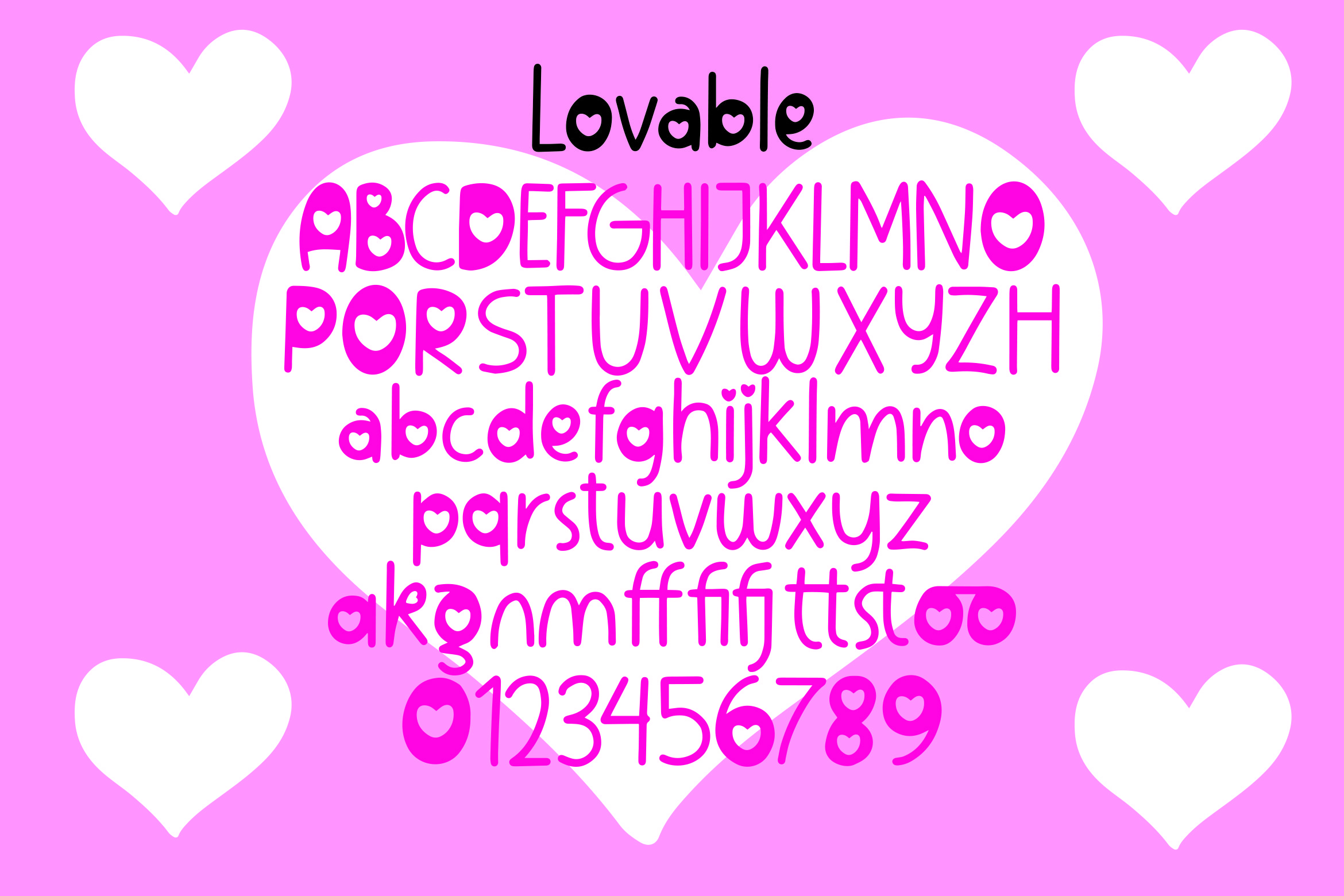 Lovable - Sweet Valentine Font example image 2