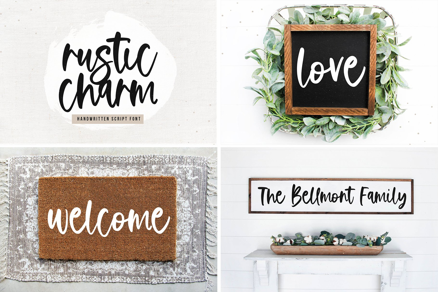 Farmhouse Font Bundle - Handwritten Fonts for Crafters! example image 3