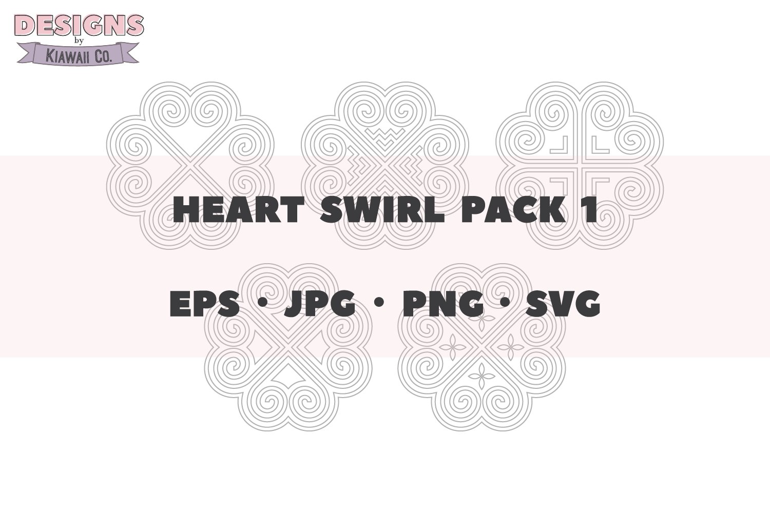 Hmong Heart Swirl Pack 1 - EPS - JPG - PNG - SVG example image 1