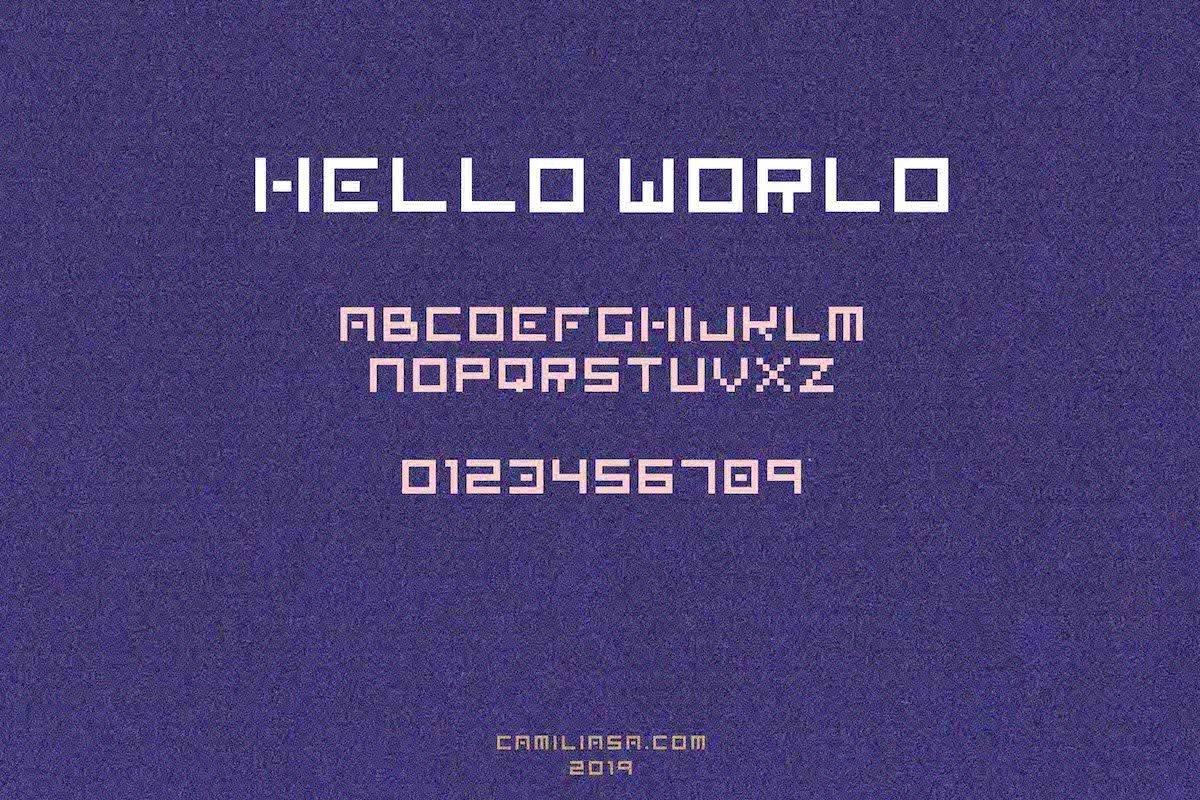 Retro Vintage & Futuristic Display Font  OTF and TTF  Pixela example image 2