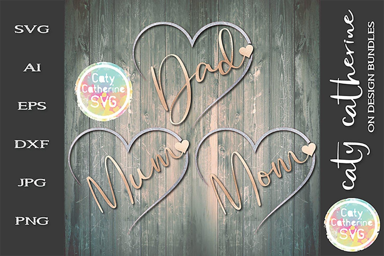 Download Mum Mom Dad Bundle Remembrance Hearts Svg 248088 Svgs Design Bundles