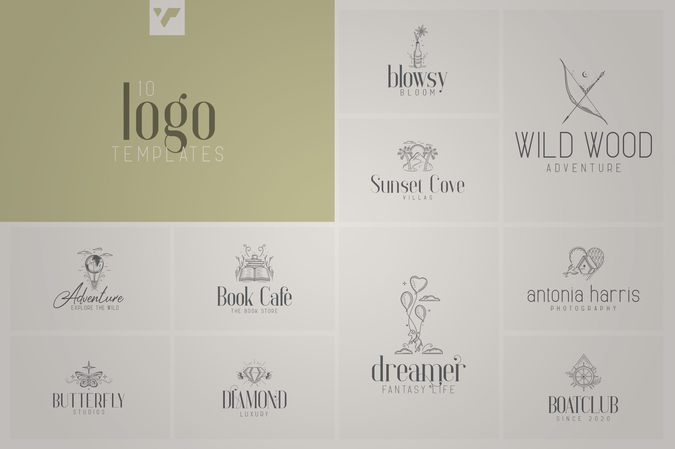Fantastic Collection - Fonts, Logos example image 9