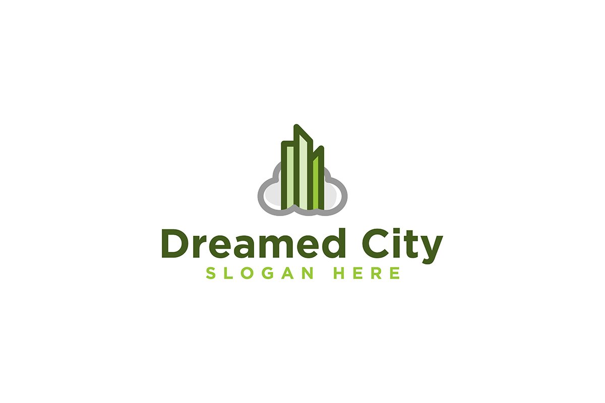 Cloud Town Dreamed City Logo Inspiration Isolated On White 696163 Logos Design Bundles