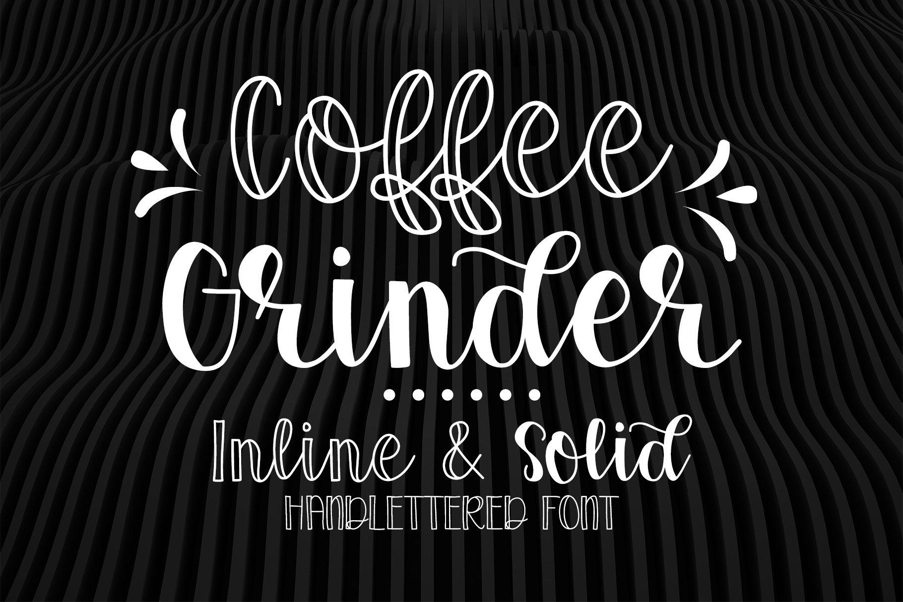 Coffee Grinder - Inline & Solid - Caps & Script example image 1