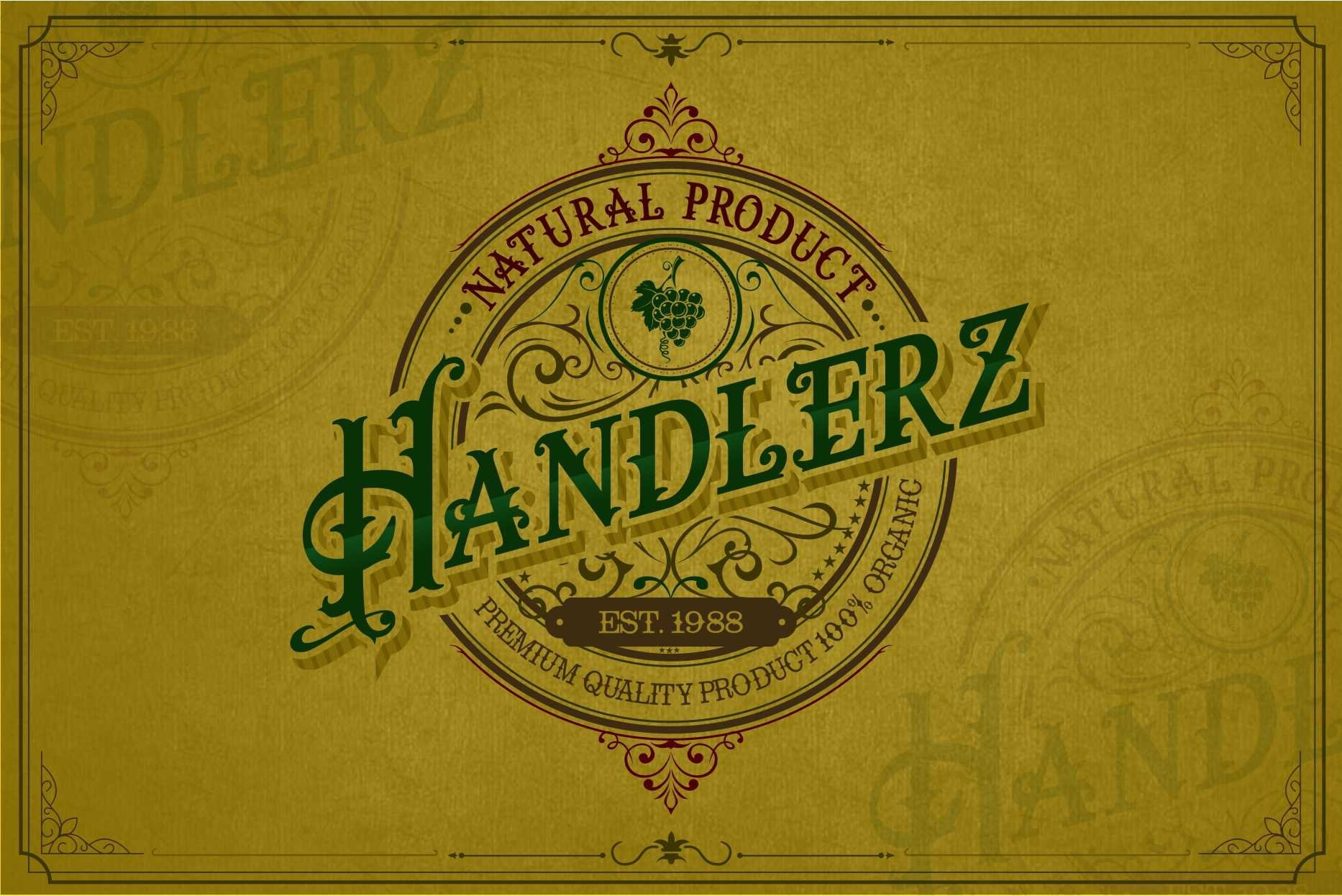 The heritages Palace Vintage Typeface example image 3