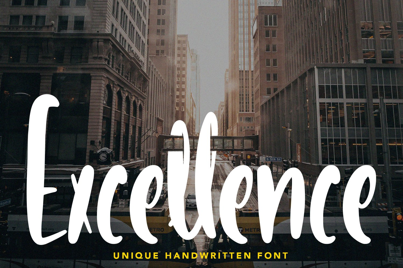 Excellence - Unique Handwritten Font example image 1