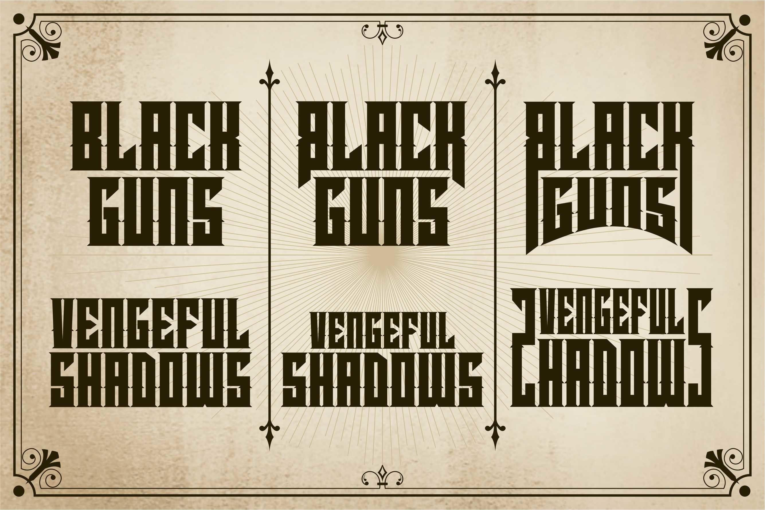 Eternal Ego Blackletter Font example image 3