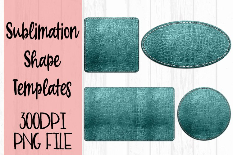 Teal Leather Sublimation Templates example image 1