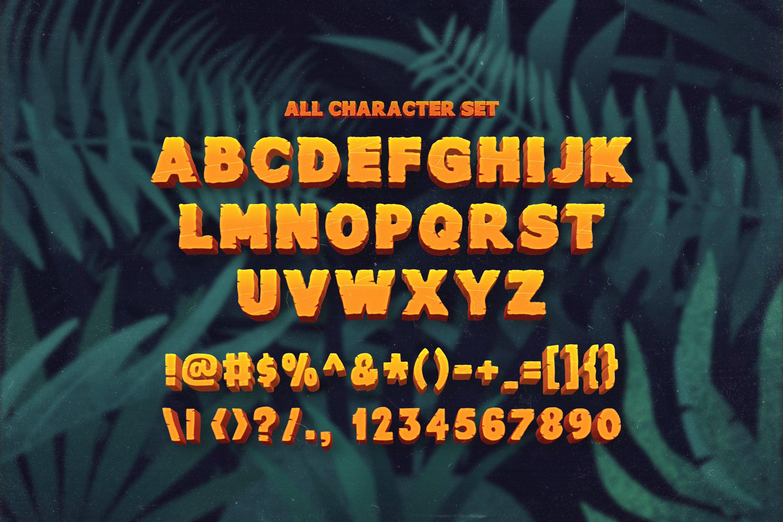 Junglezou Typeface example image 6