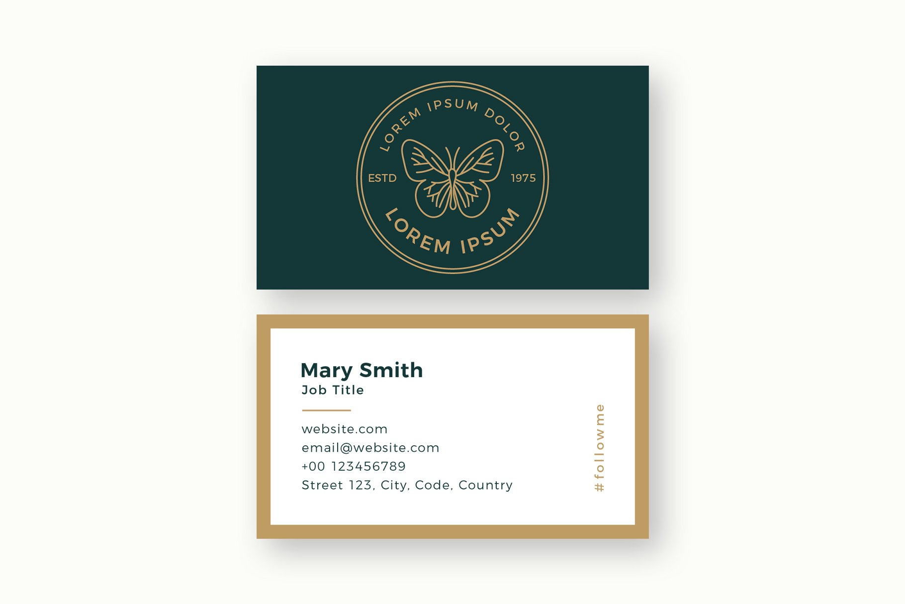 Butterfly Logo & Business Card Templates example image 3
