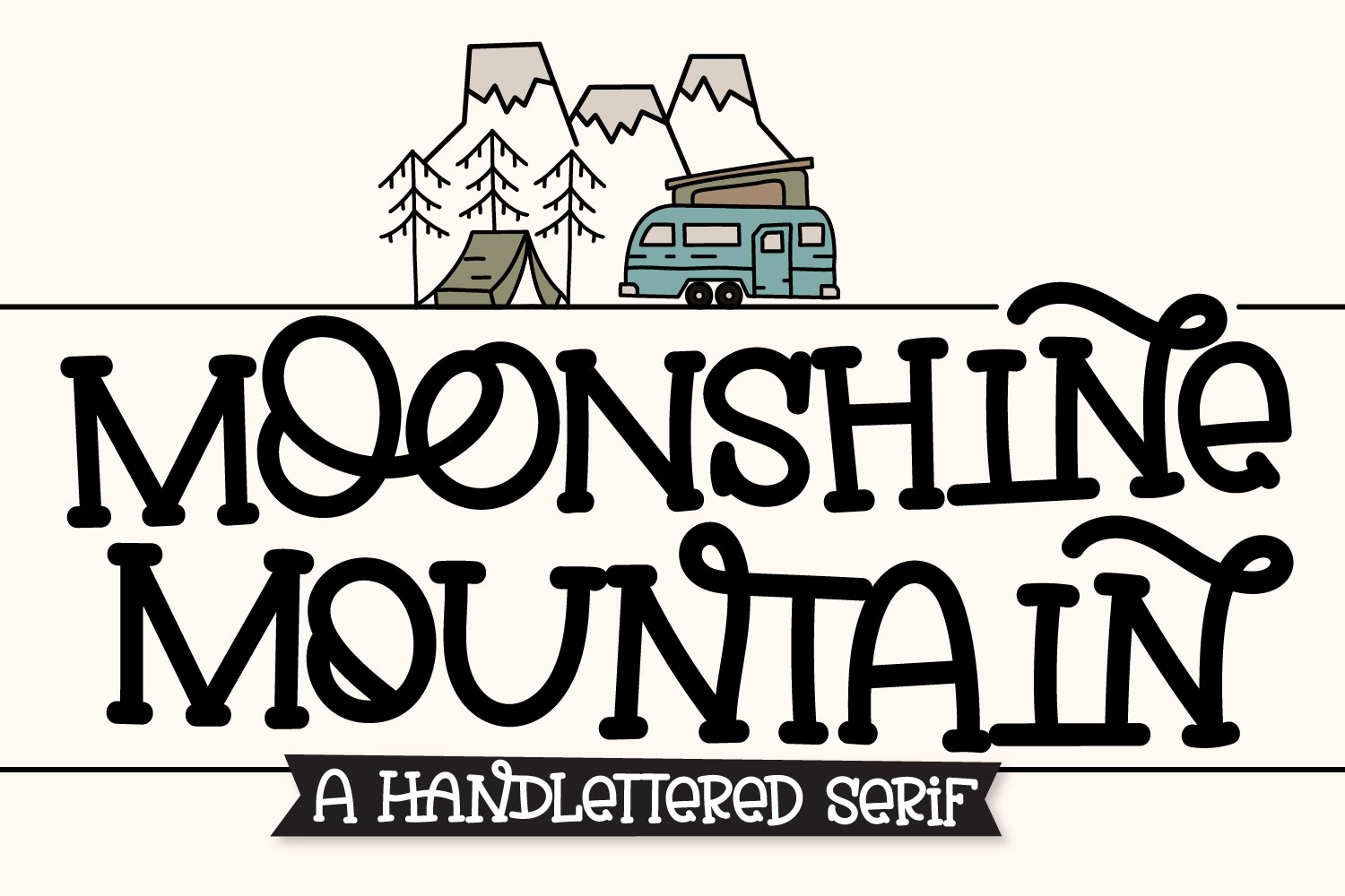 Moonshine Mountain - A Silly Soft Caps Font example image 1