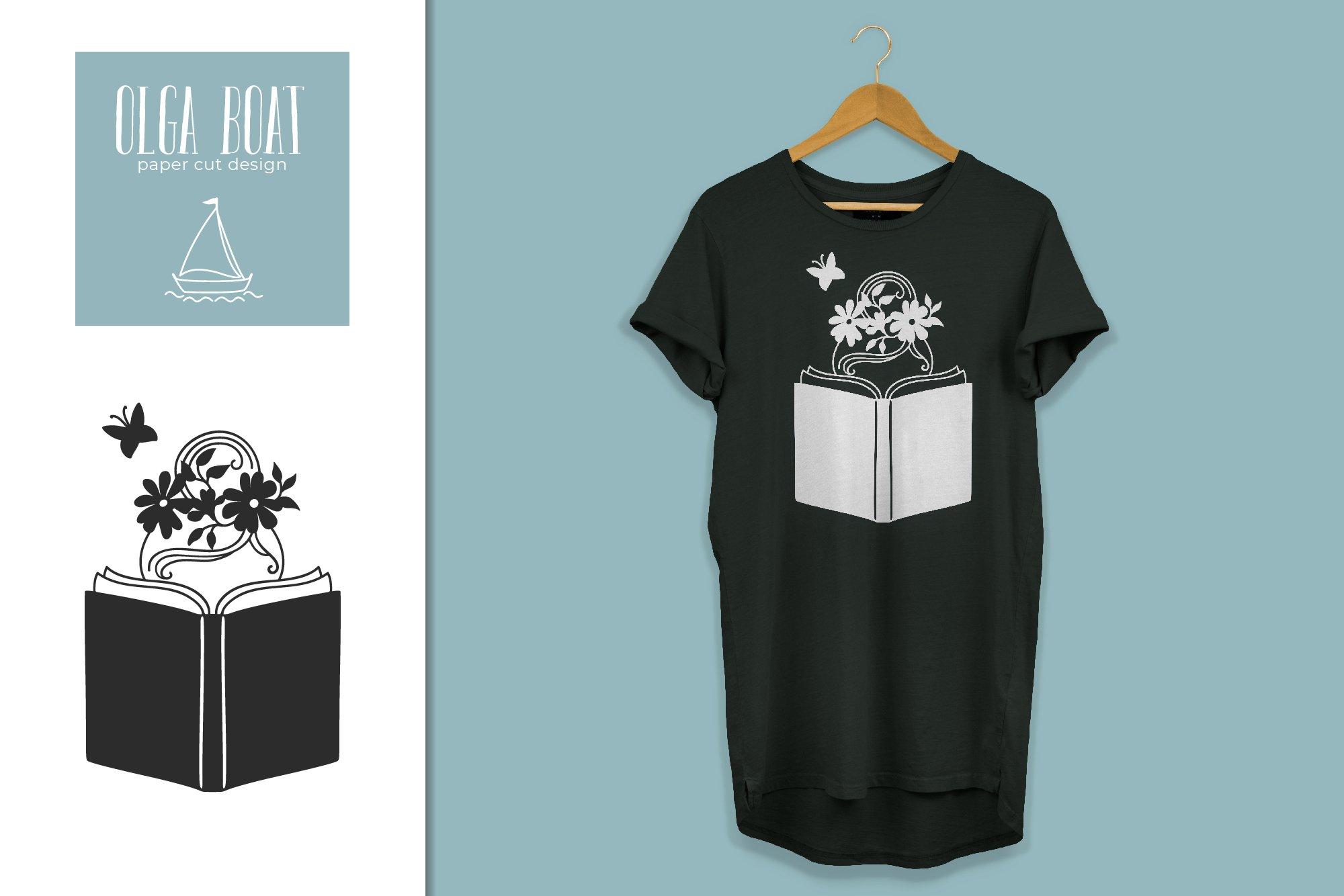Download Girl reading book svg. Book lover Paper cut design (941597 ...
