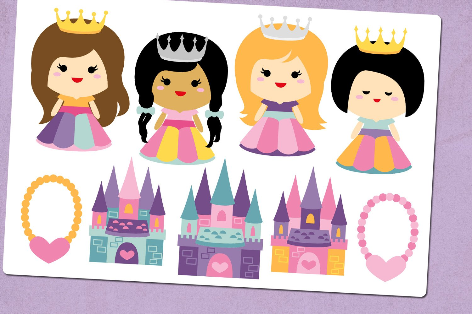 Princess and Castle Illustrations Clip Art example image 2