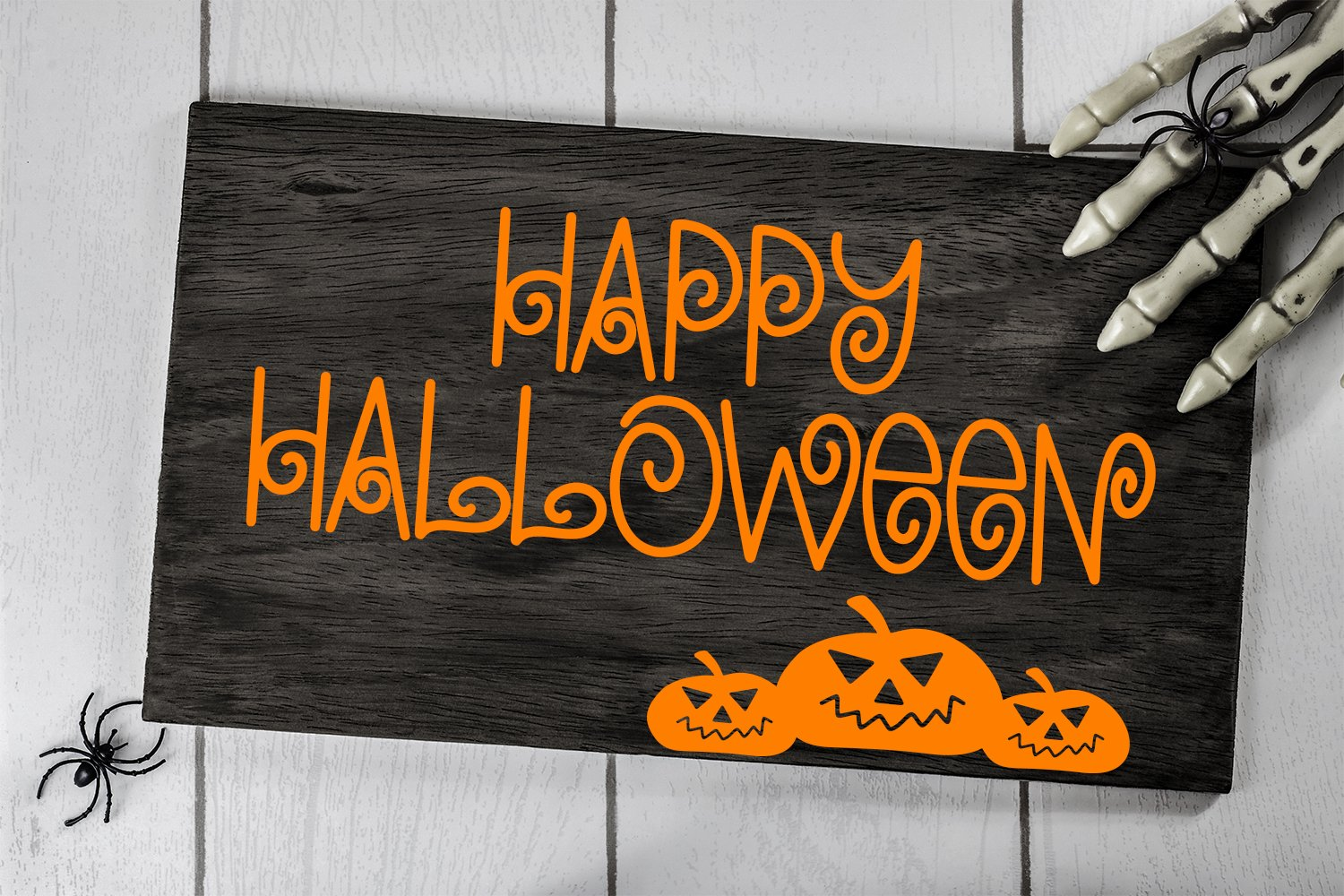 Chills & Thrills - A Swirly Halloween Font example image 3