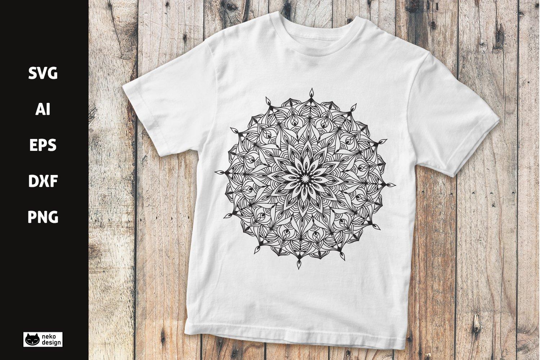 Mandala Vector Design SVG Cut File example image 1