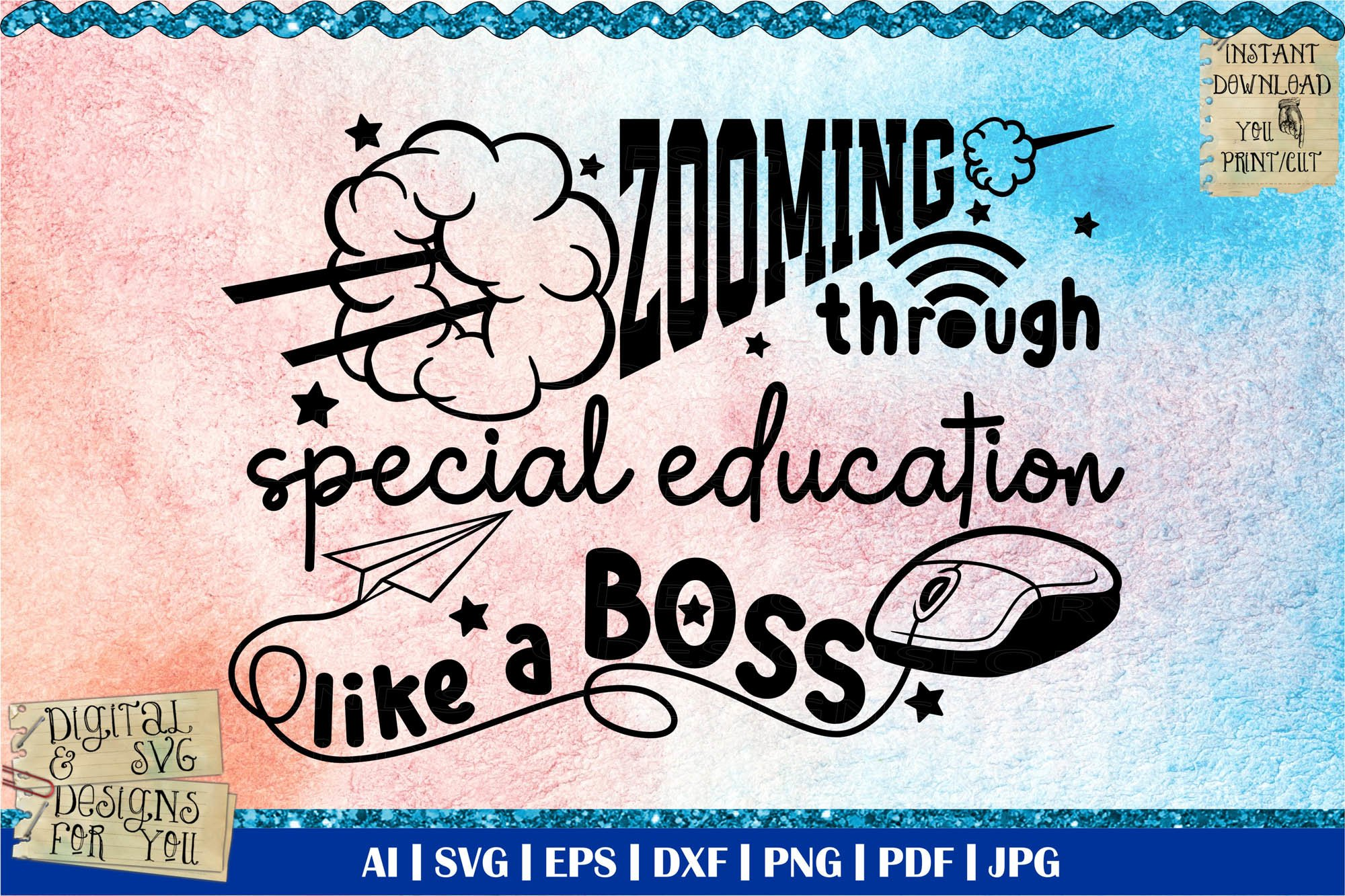Zooming Through Special Education Like A Boss Zoom Svg 822862 Cut Files Design Bundles