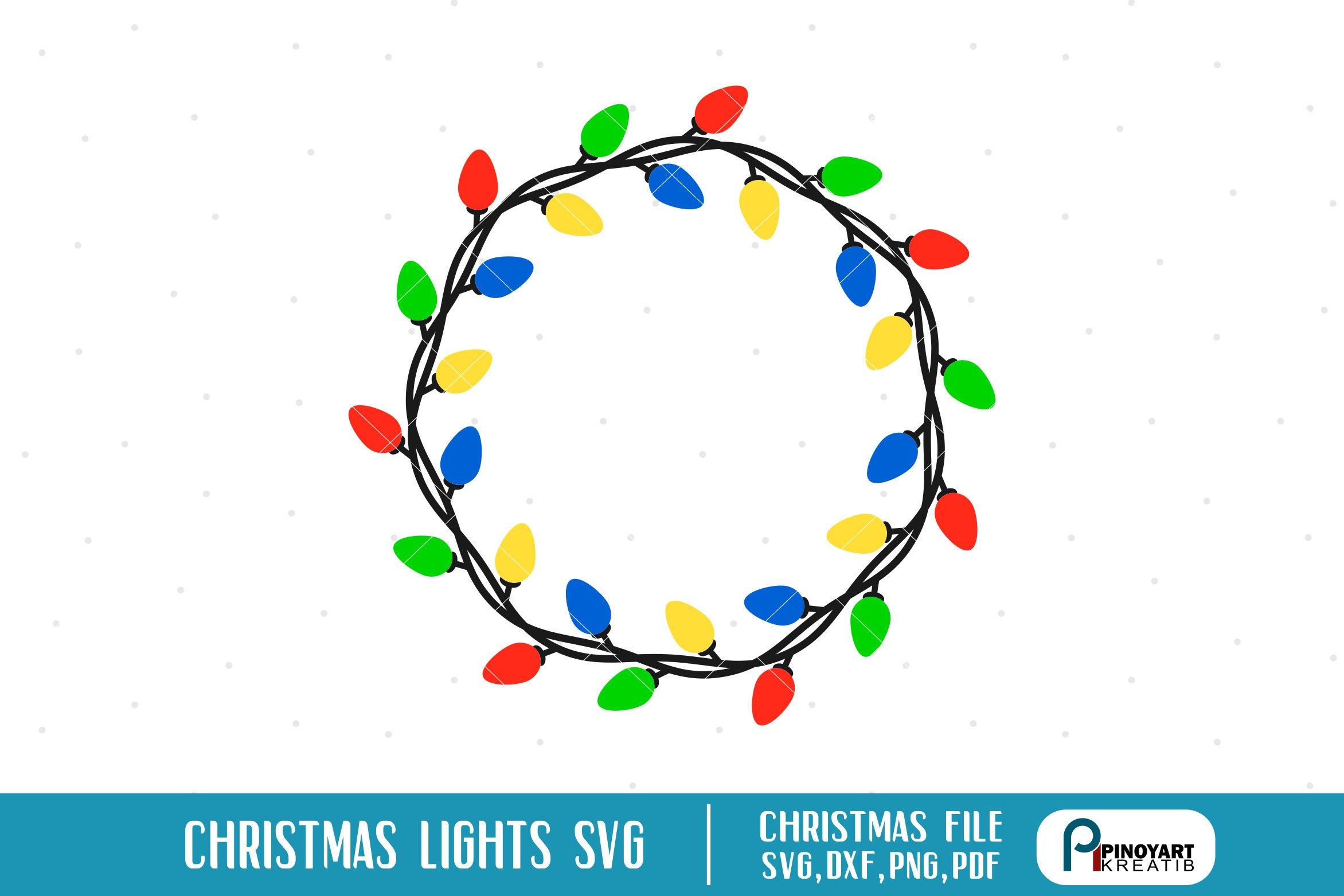 Christmas Lights Svg Christmas Svg Christmas Svg File 71281 Monograms Design Bundles