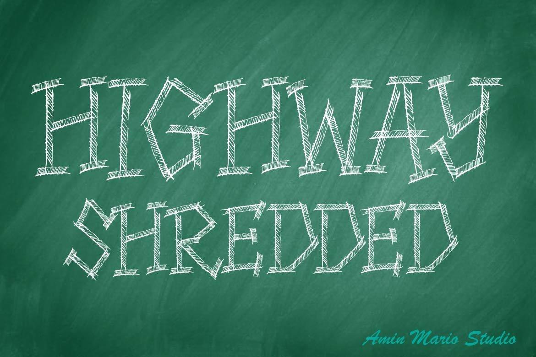 HIGHWAY SHREDDED - ALLCAPS example image 2